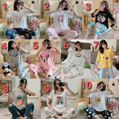 Foto Produk piyama wanita import spandek 7/8 dari Wu Fashions