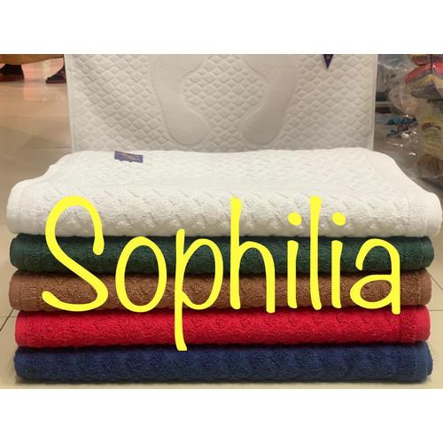 Foto Produk keset kaki handuk hotel embosse telapak kaki 45x70 serap - Putih dari Sophilia