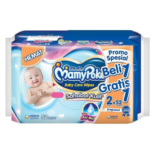 Foto Produk Mamy Poko Baby Wipes Non Alcohol Parfum 2X52's dari Raffardhan olshop