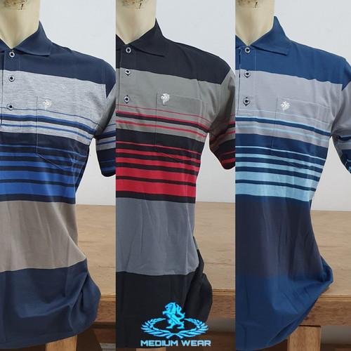 Foto Produk Kaos Kerah Saku Salur L/XL - Biru dari Medium_wear