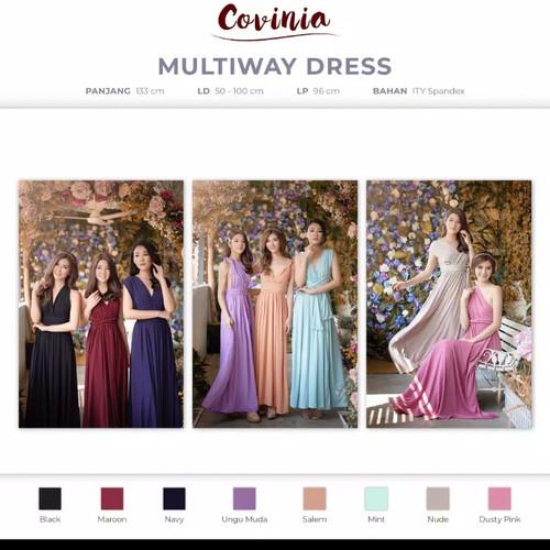 Foto Produk PAKET EKONOMIS!Bridesmaid Gown/Gaun Bridesmaid/Infinity Dress/Multiway - Hitam dari fashion care