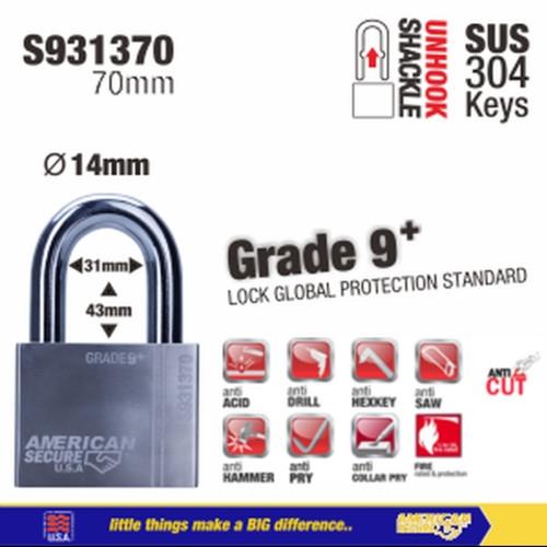 Foto Produk Gembok American secure 70mm Gen 4 S931370 dari Teknik Mandiri indo