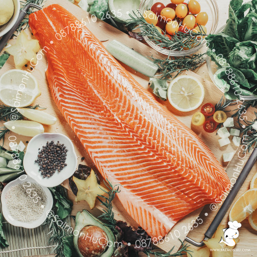 Foto Produk Ikan Salmon Fillet SEGAR Premium (100% Norwegian Salmon) Sashimi Grade dari Salmon Hu Jakarta