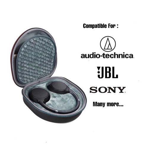 Foto Produk Sony Headphone Pouch Hard Case bag for Sony JBL - EXT BLACK, INT DARKGRAY dari docker