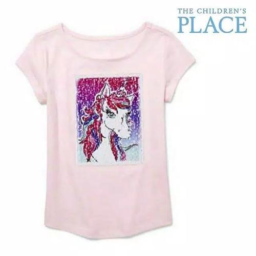 Foto Produk Baju anak kaos flip sequin branded Children's Place pink unicorn 5-6 T - 5-6 tahun dari Galeri Ona