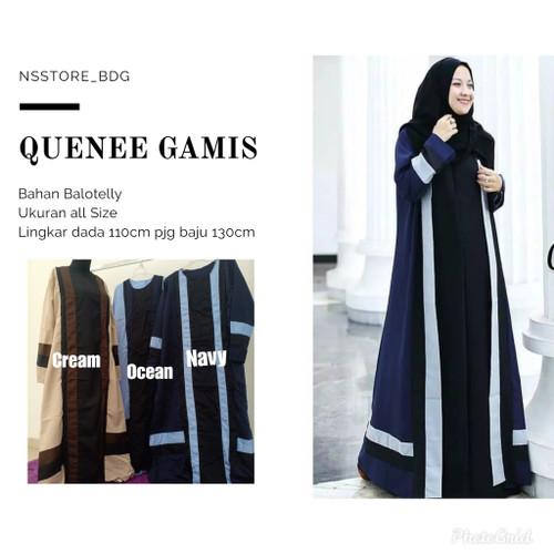 Foto Produk Quenee dress gamis jumbo gamis big size - Navy dari NS Store