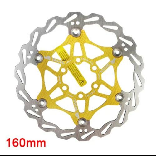 Foto Produk Rotor Snail Disc Brake 160mm - Rotor 6 Inch - Rotor Sepeda Gold dari MZA store