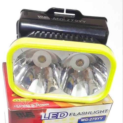 Foto Produk senter kepala cas 2 mode putih dan kuning dari putra_elektronik_store