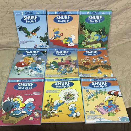 Foto Produk Buku Komik Smurf Bind Up Bundle 3 in 1 Satu Buku 3 Cerita Tebal dari Minat VS Koleksi