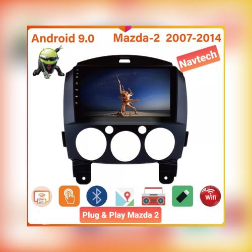 Foto Produk Head unit android 9 inch 2/16 Mazda 2 / Head unit mazda 2007-2014 - 2GB 32GB dari Navtech