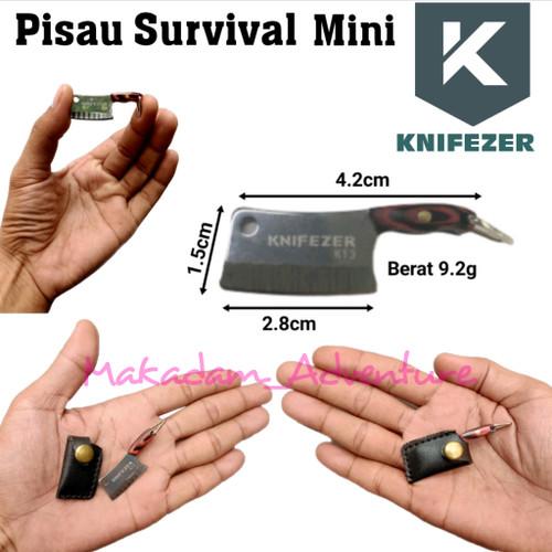 Foto Produk pisau mini survival gantungan kunci saku dari Makadam