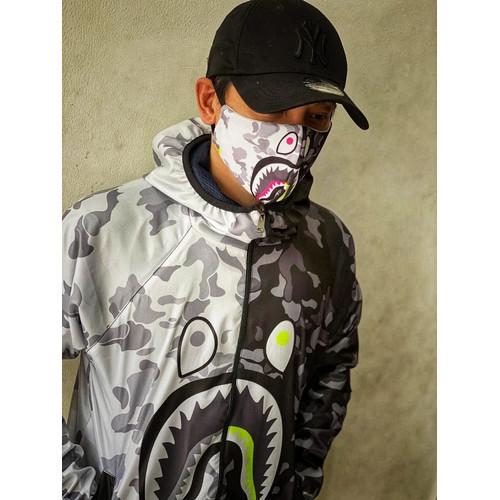 Foto Produk Jacket + Masker Branded Bape parasut metalic dari S7 Gallery