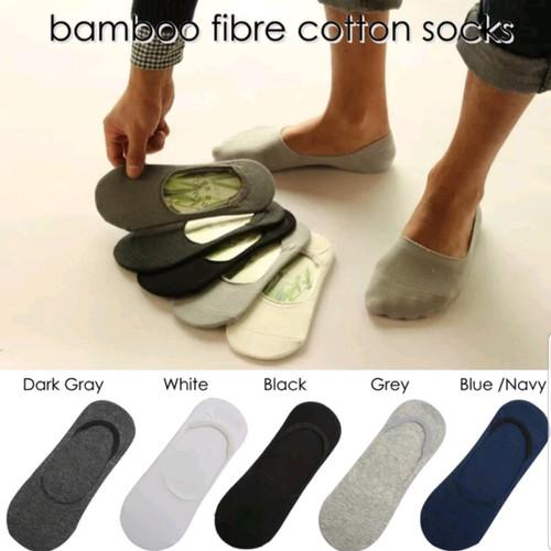 Foto Produk kaos kaki pria wanita bambu Bamboo hidden socks unisex pendek dari My shop acc