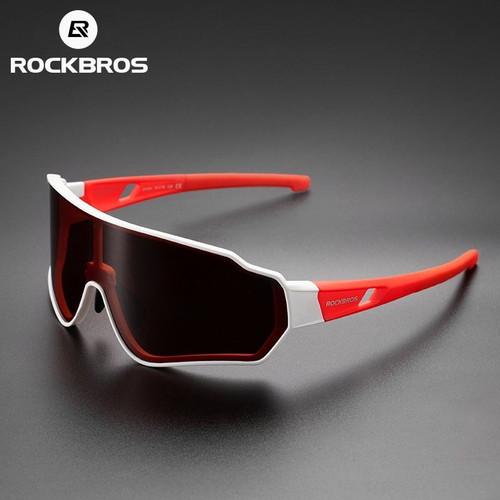 Foto Produk ORIGINAL Kacamata sepeda ROCKBROS lensa mirror Red Polarized dari Kaligung