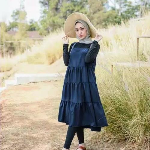 Foto Produk Baju tunik wanita murah ORIGINAL SF111 - NAVY dari athvelstore