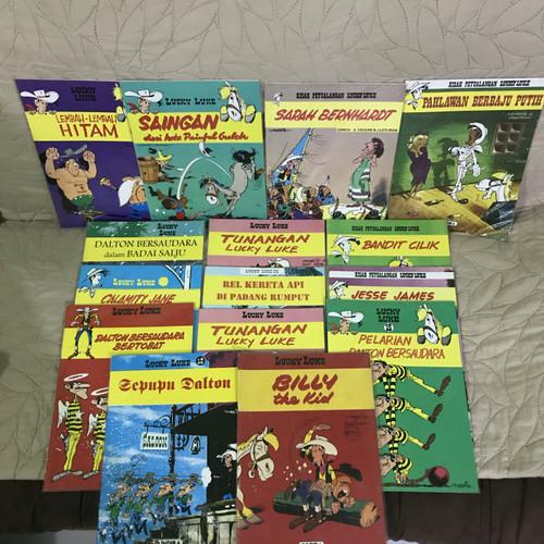 Foto Produk SEGEL NEW Buku Komik Lucky Luke Buku Besar Lebar Indira Berbagai Judul dari Minat VS Koleksi
