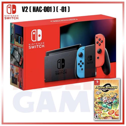 Foto Produk New Nintendo Switch Neon Red/Blue (HAC-001)(-01) +Sushi Striker dari Multi Game Indonesia