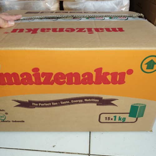 Foto Produk [1dus isi 15pcs] Tepung Maizena MAIZENAKU 1 kilo / 1kg / 1 Kg dari Aimee Bag & Plush Toys