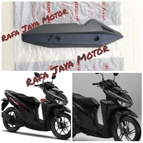 Foto Produk Cover Tutup Knalpot Honda Vario 125 - 150 New 2018 - 2019 Terbaru Ori - Hitam, vario dari Rafa jaya motor