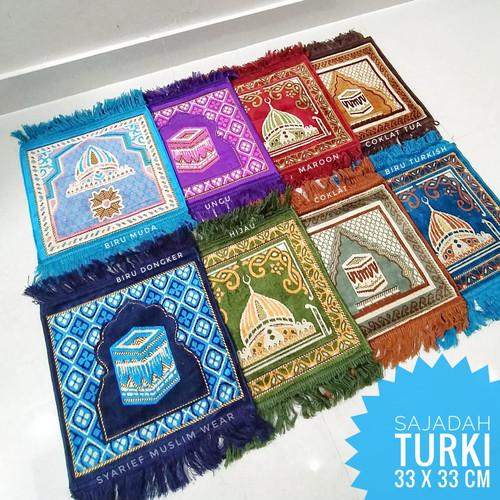 Foto Produk Sajadah Turki Kecil (33 x 33 cm) | Oleh-oleh Haji/Umrah dari Syarief Muslim Wear