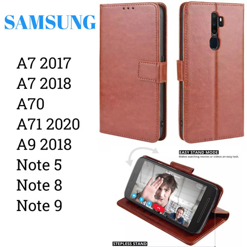 Foto Produk Flip Walet A71 Note 9 Samsung Sarung Kulit Leather Case Cover Standing dari Indo Smart Acc