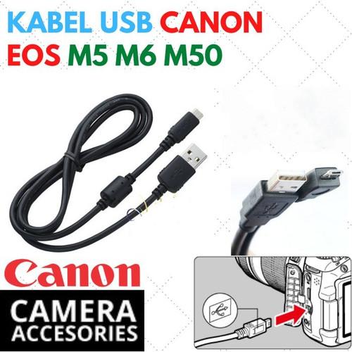 Foto Produk Kabel Data Micro USB Kamera Canon EOS M5 M6 M50 G5 G9X SX740 dari Inti Jaya Online