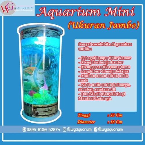 Foto Produk Aquarium mini portable with mesin airator || Wg aquarium tipe v4 dari wgmall