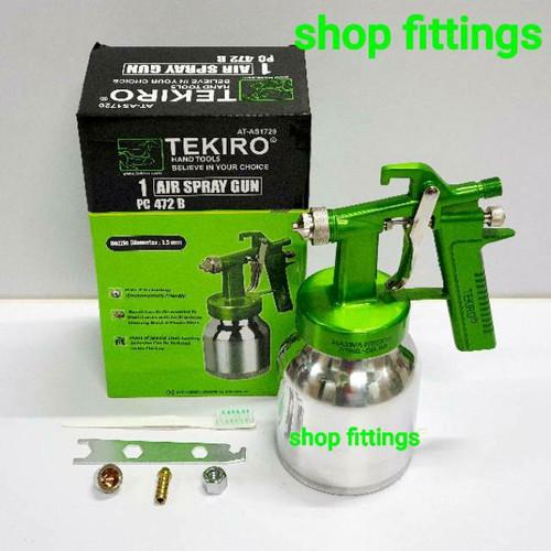 Foto Produk TEKIRO PC 472 B Paint Spray Gun HVLP Alat Semprotan Cat Tabung Bawah dari shop fittings