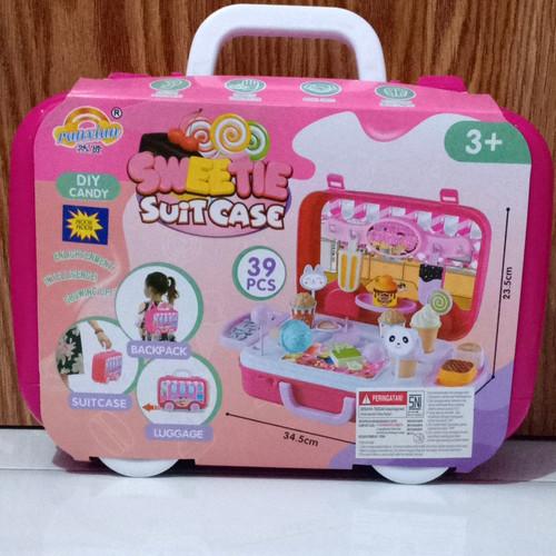Foto Produk sweetie suit case 39 pc/mainan koper ice cream dari HM (hamanda) toys