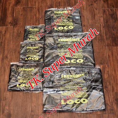 Foto Produk Kantong plastik kresek hitam uk.28 merk Loco ekonomis dari Plastik super murah