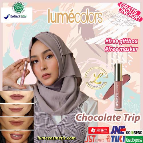 Foto Produk LUMECOLORS VELVET LIPCOAT - CHOCOLATE TRIP dari lumecolorsindonesia