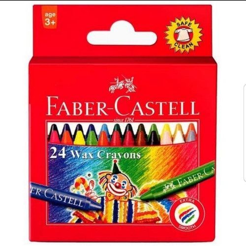 Foto Produk wax crayon 24 warna faber castell dari Rahmah Stationery