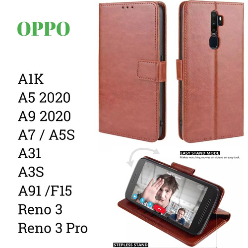 Foto Produk Flip Walet A91 A9 2020 Oppo Sarung Kulit Leather Case Book Cover Stand dari Indo Smart Acc
