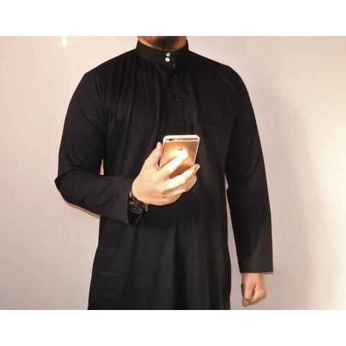 Foto Produk Gamis pria jubah pria premium polos kancing ( haramain ) - Putih, XL dari Ashafa Moslem Al Hakim