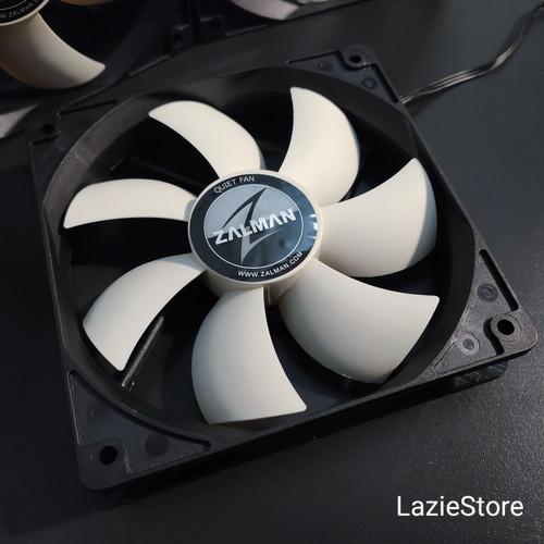 Foto Produk Ready! Fan Casing CPU Case Fan 12cm Zalman ZA1225ASL PWM 3 Pin 12V New dari LazieStore