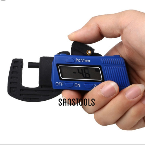 Foto Produk Digital thickness gauge caliper micrometer thicknes gage ukur tebal dari Sanstools