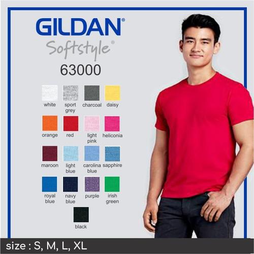 Foto Produk Kaos Polos GILDAN softstyle 63000 - light pink dari Indonesia ku