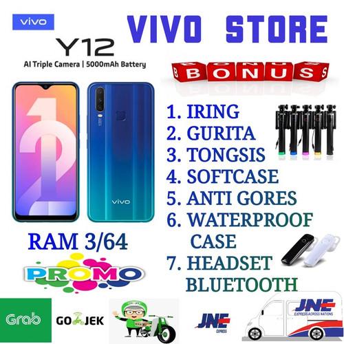 Foto Produk VIVO Y12 RAM 3/64 GARANSI RESMI VIVO INDONESIA - blue no bonus dari VIVO ST0RE