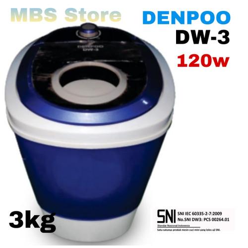 Foto Produk Mesin cuci Portable Denpoo Mini DW 3 ( 3kg ) - Biru dari MBS Online Store