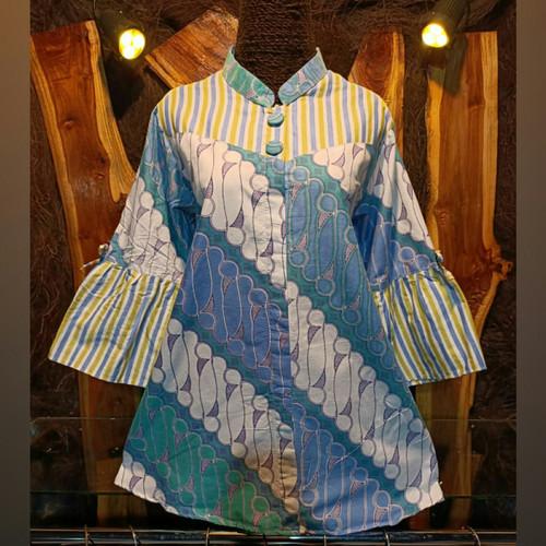 Foto Produk blouse batik atasan wanita modern dari batik makmuri