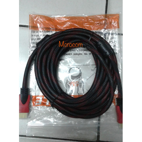 Foto Produk Kabel HDMI Jaring Vers 1.4 5M dari Moro Com