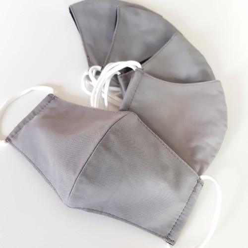 Foto Produk Masker kain ANAK (COTTON) 3 ply - GREY dari Moteza Indonesia