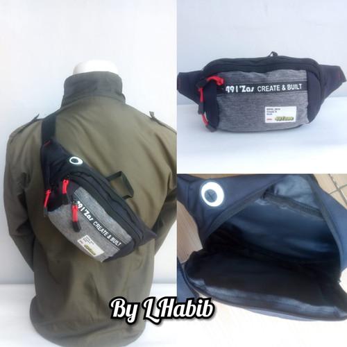 Foto Produk tas waist bag selempang gaul free masker kain - Biru dari L Habib