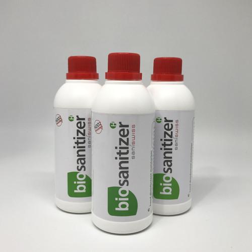 Foto Produk SaniSwiss Hand Sanitizer 500ML Bio Alcohol 70% Food Grade, H2O2 Boost dari BigOneOnline