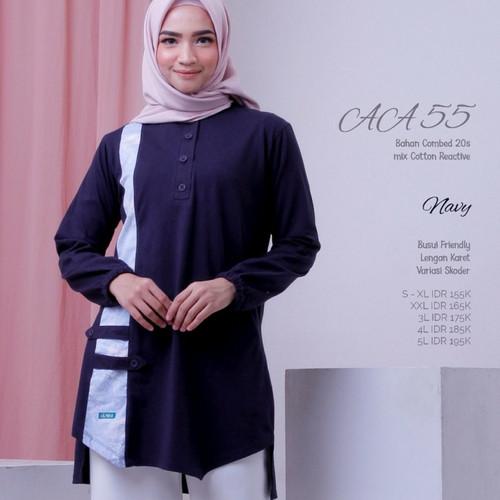 Foto Produk Baju Atasan Wanita Muslim Nibras Alnita AA 55 Size S/M/L/XL - Navy dari FarzanaShop19