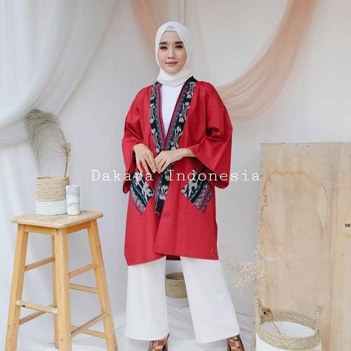 Foto Produk Outer Oversize Ethnic Manaka Tenun Ikat - Dakara Indoenesia dari Dakara Indonesia