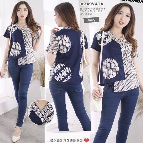 Foto Produk Baju atasan Batik (249VATA) blouse wanita modern terbaru-standart dari YesOK