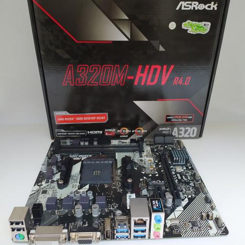 Foto Produk ASRock A320M - HDV (AM4,AMD Promontory A320, DDR4, SATA 3) dari QUEENPROCESSOR