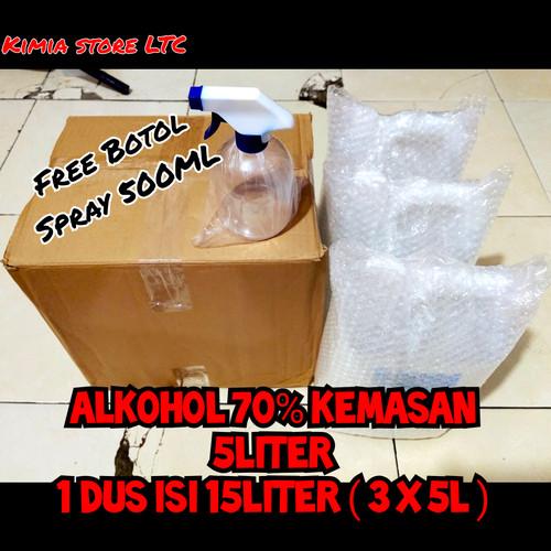 Foto Produk Alkohol 70% 1 Dus ( 15 Liter ) dari Kimia Store..!