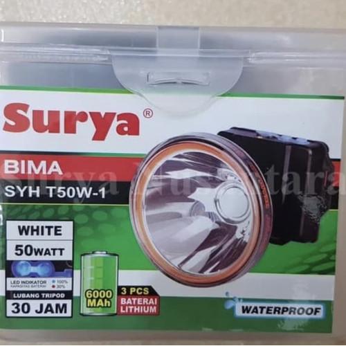 Foto Produk Senter Kepala Surya BIMA 50 watt Cahaya Putih atau Cahaya Kuning dari veronshoppe